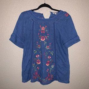 Umgee Boho embroidery 🧵 top